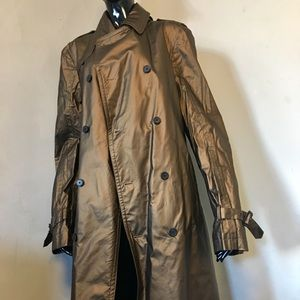 Costume National Homme Bronze Trench Coat Size 38